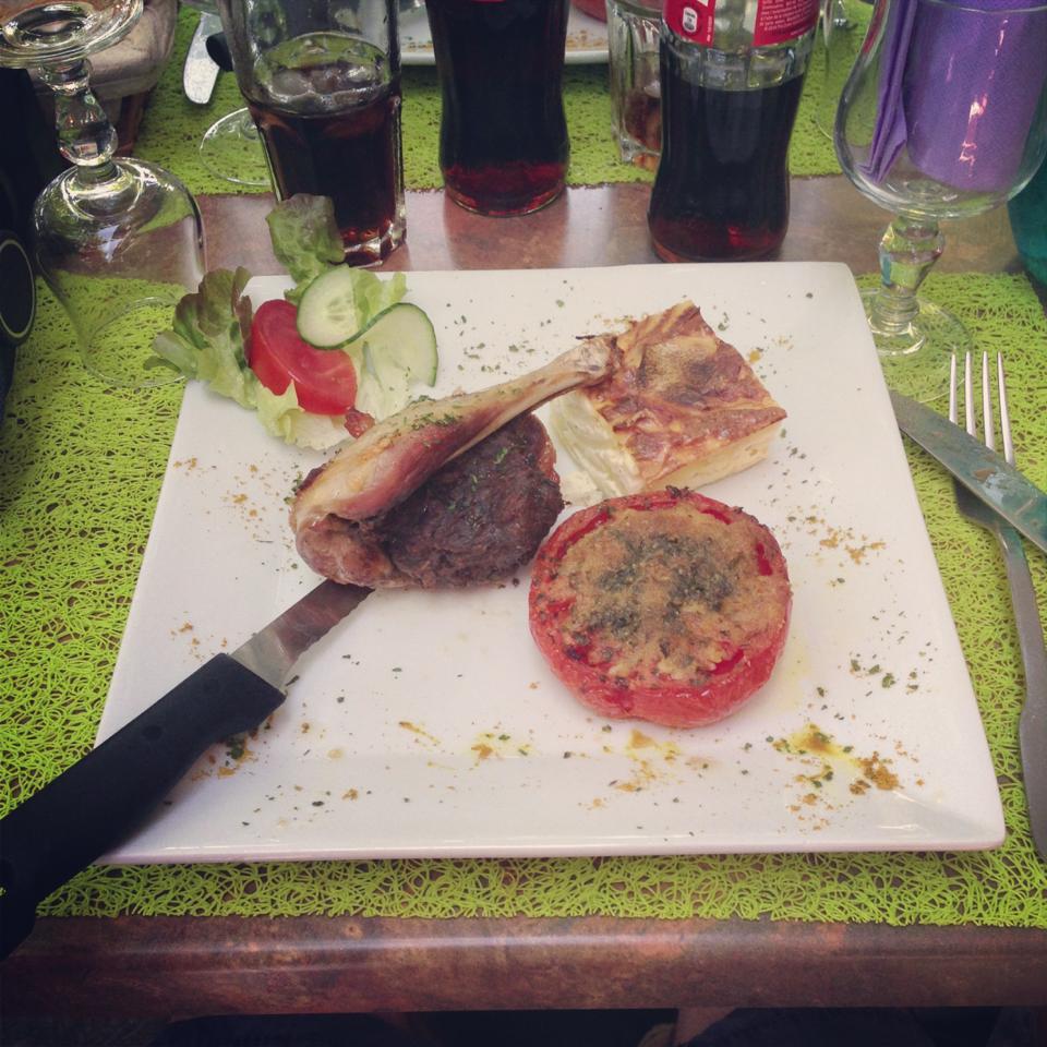 Essen Südfrankreich Mittagstisch