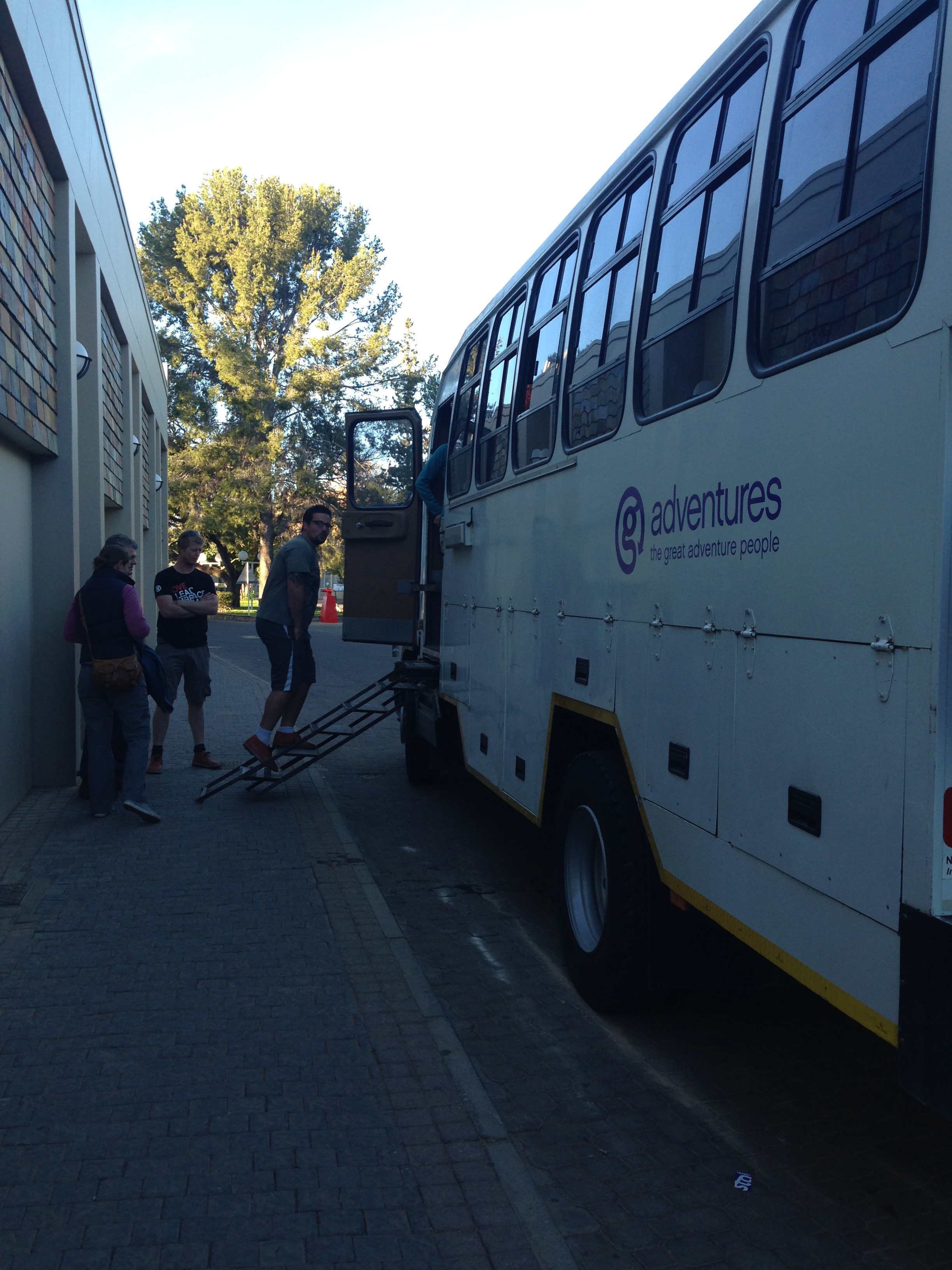 Abschied Truck G-Adventures Windhoek Namibia