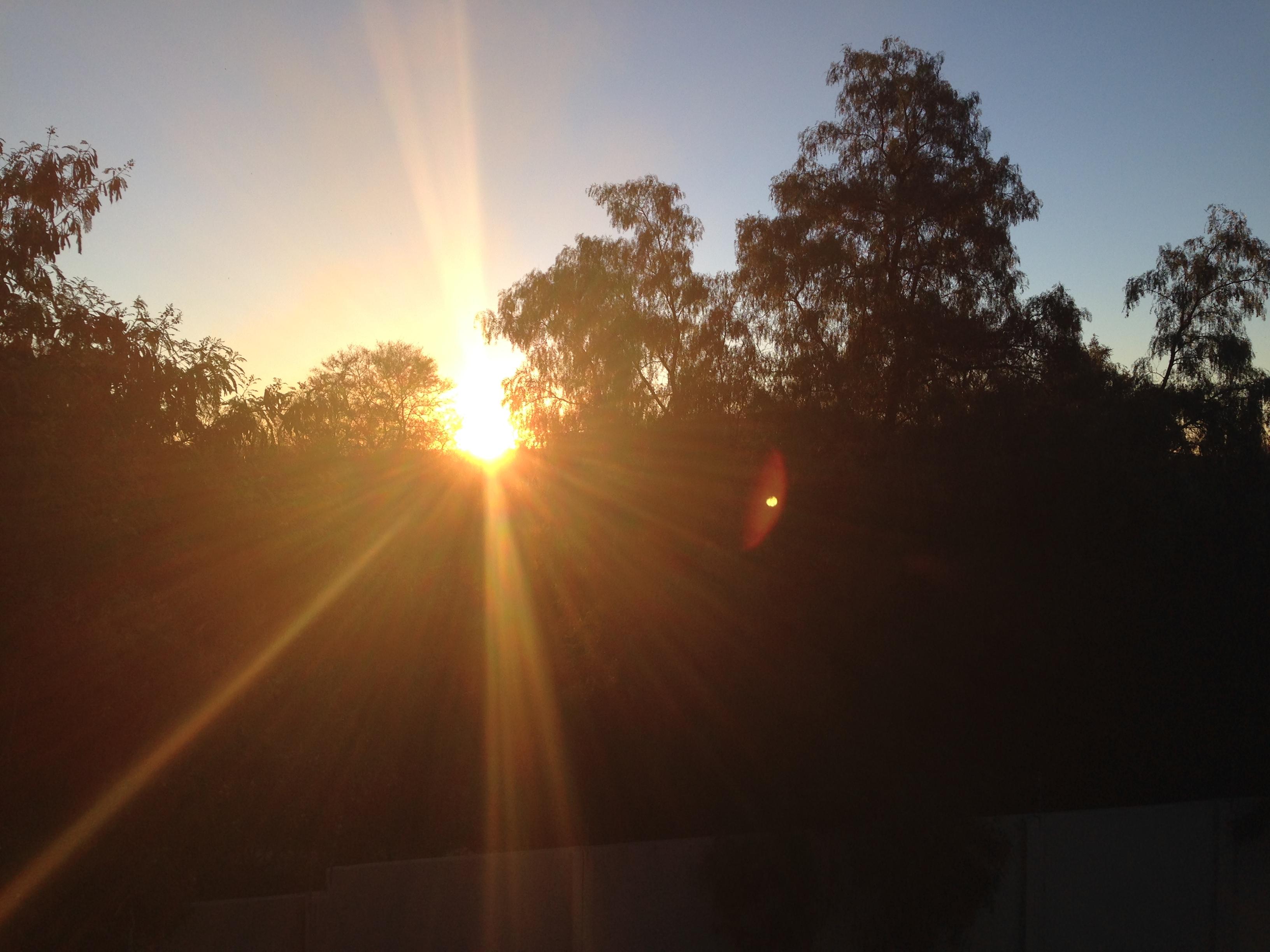 Sonnenuntergang Windhoek Namibia