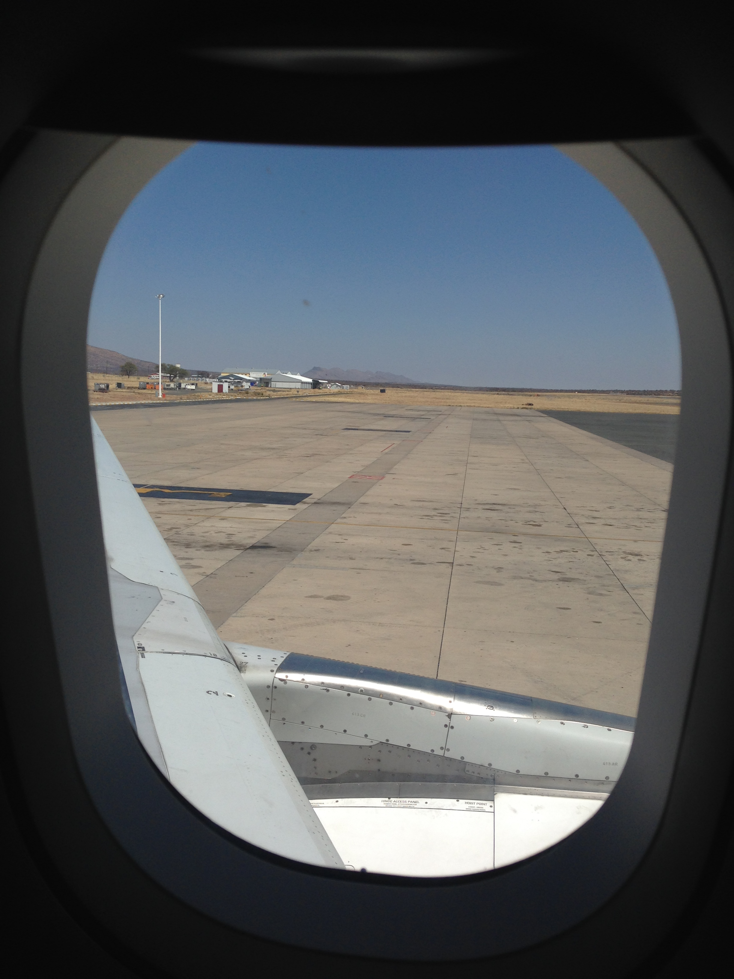 Aussicht Southafrican Airways Namibia Windhoek Flughafen
