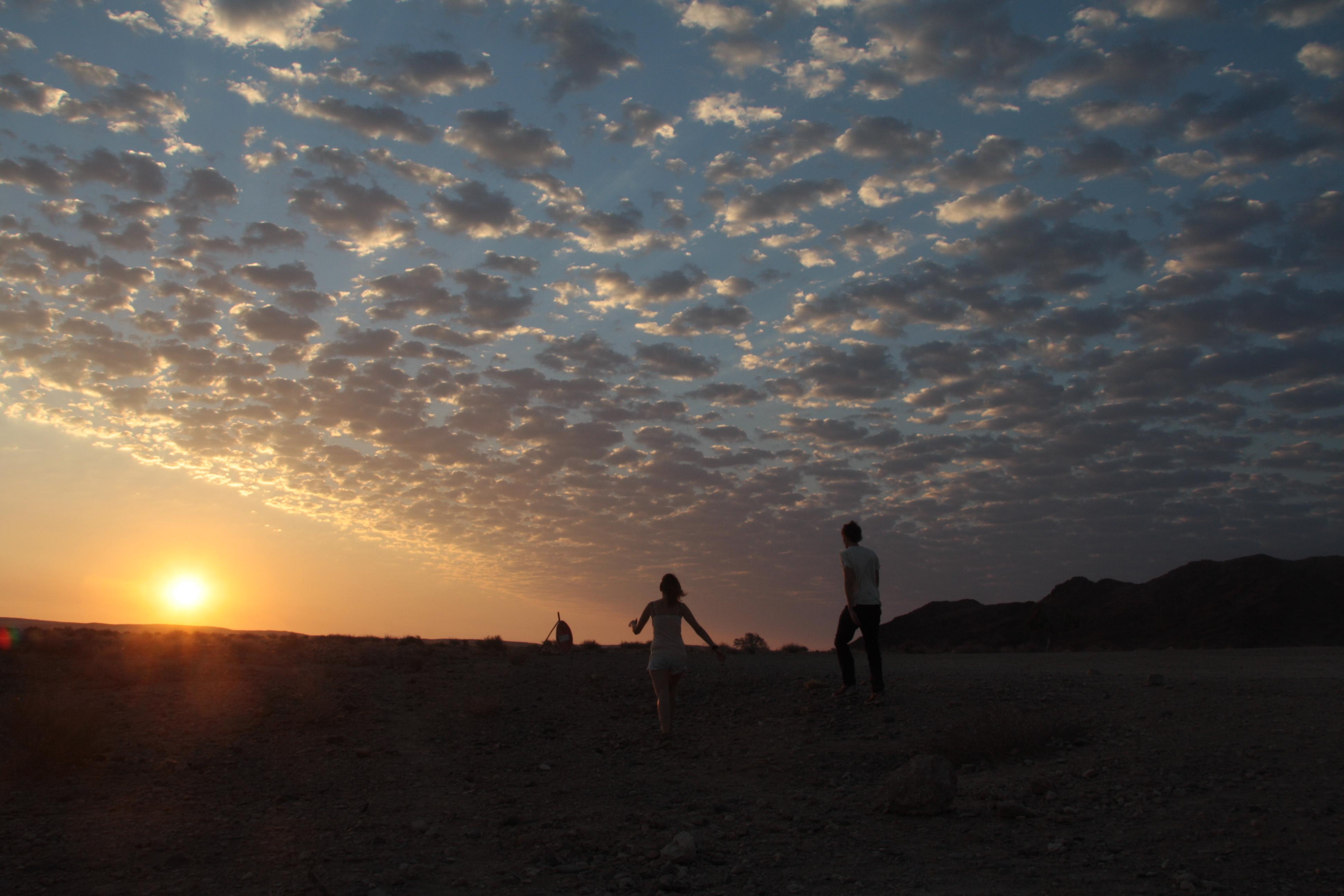 Sonnenuntergang Sesriem Canyon Namibia