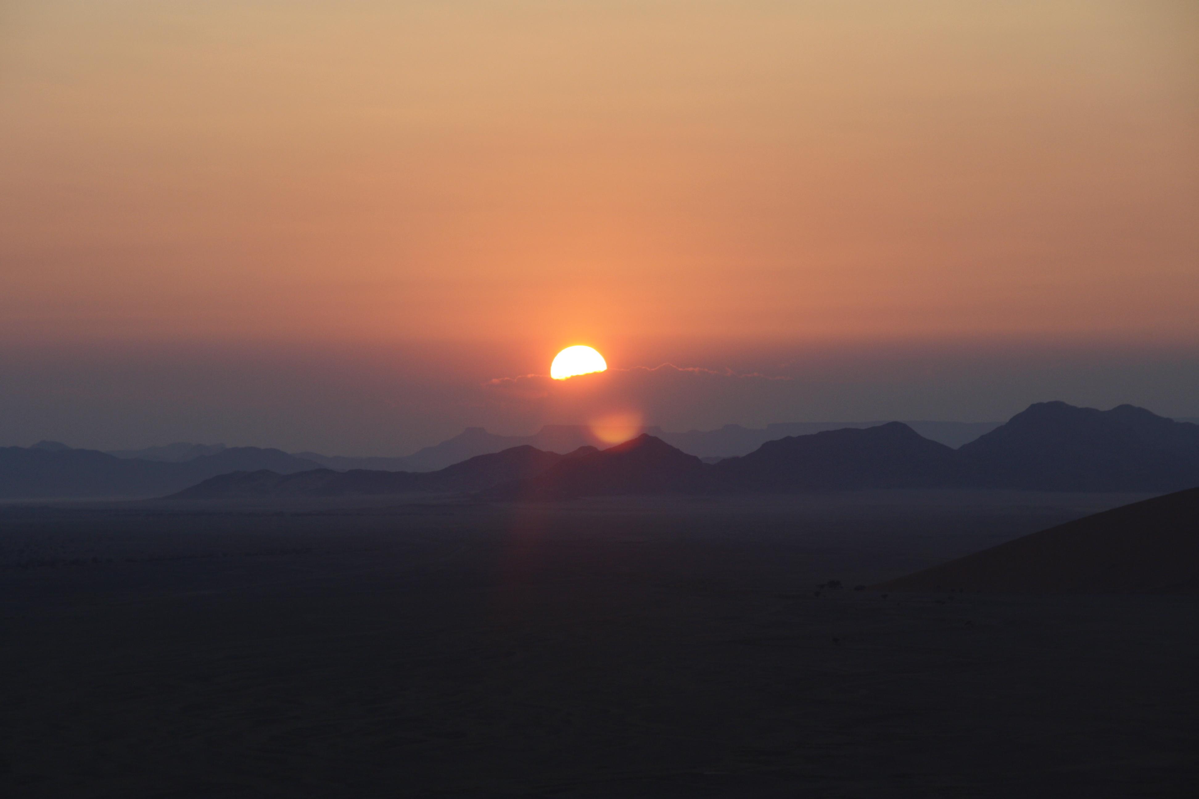 Sonnenaufgang Namib Namibia