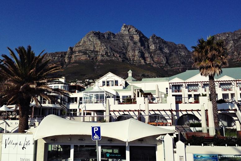 Die zwölf Apostel in Kapstadt. Gesehen auf der Stadtrundfahrt mit der roten Linie
