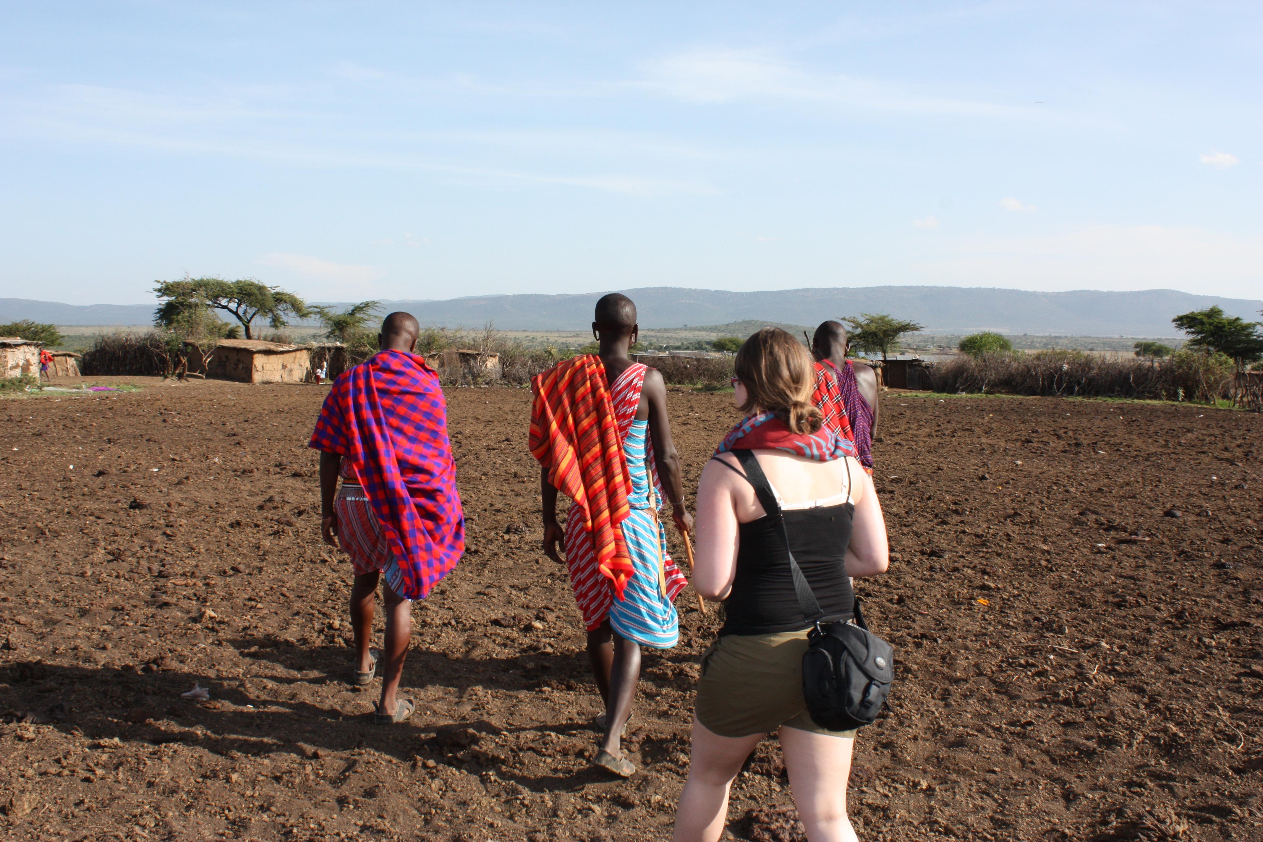 Massai Dorf Kenia