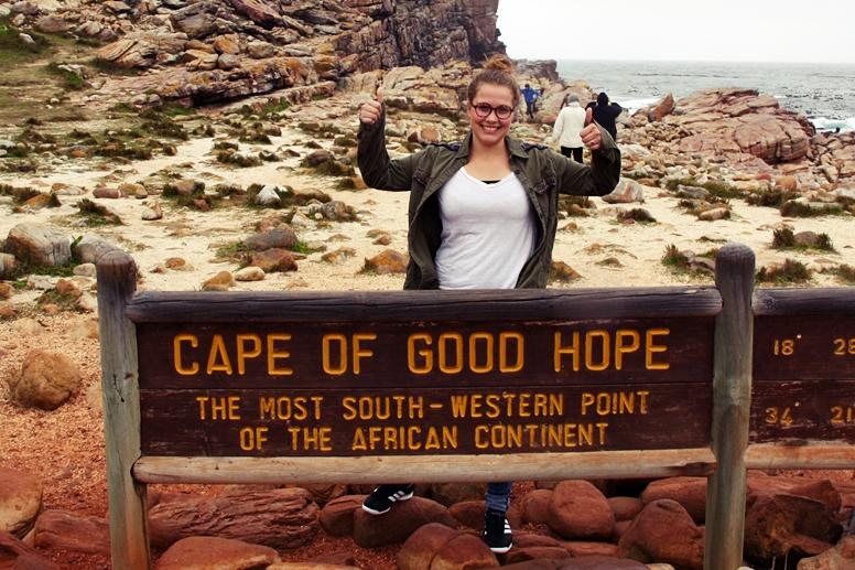Lynn am Kap der guten Hoffung auf der Cape Point Tour