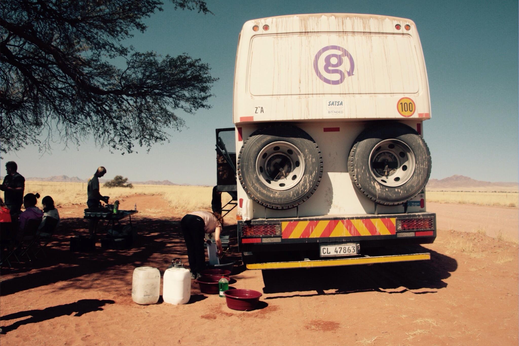 Mittagspause in der Namib, Namibia, Afrika, Overlanding, G-Adventures