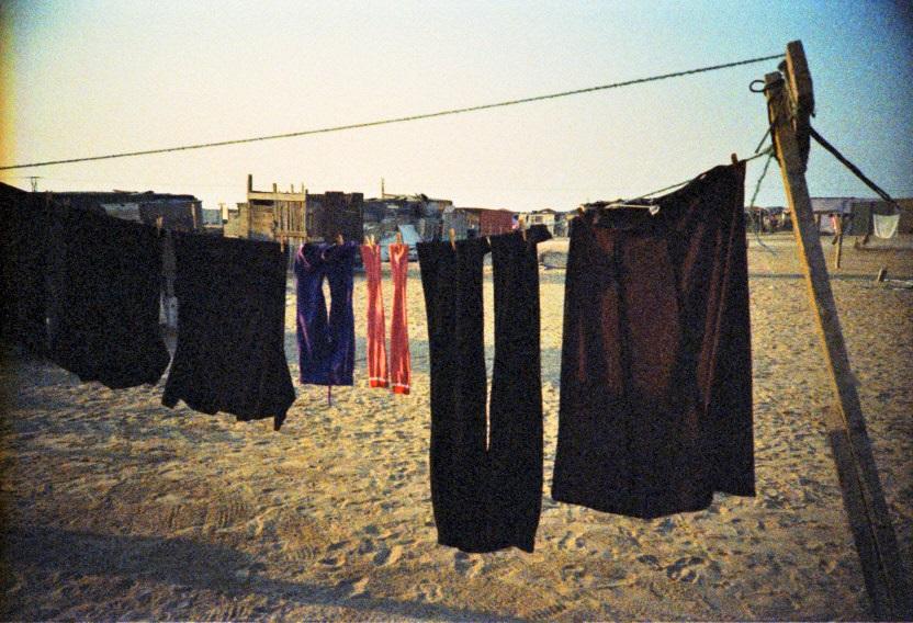 Wäscheleine im Township von Swakopmund