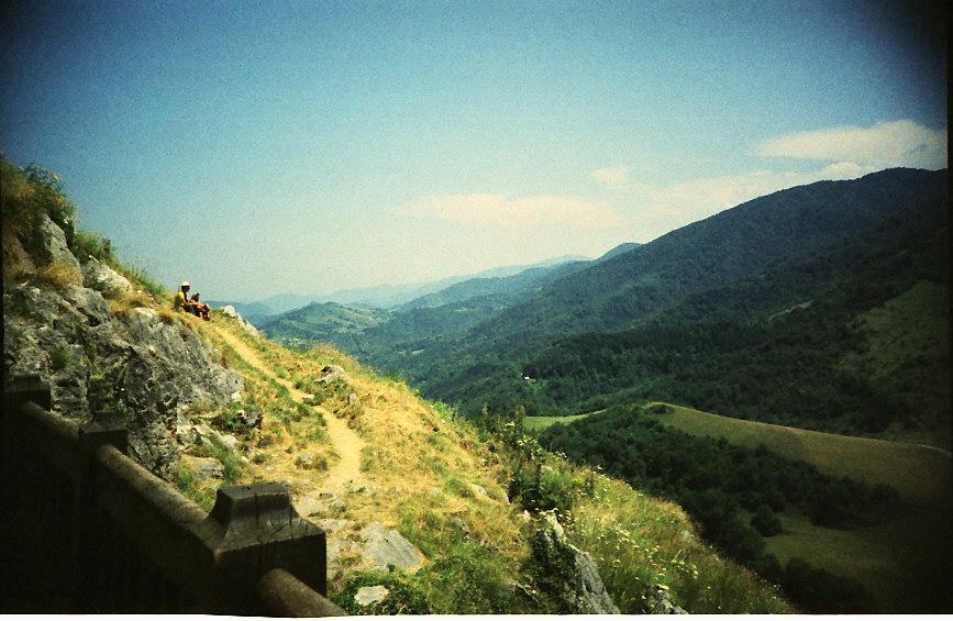 Pyrenäen Wanderer Montsegur