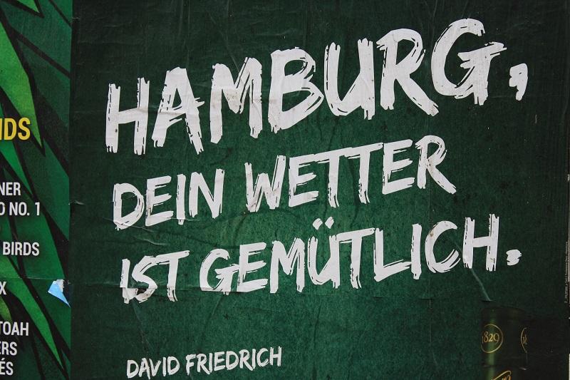 Plakat Hamburg dein Wetter ist gemütlich