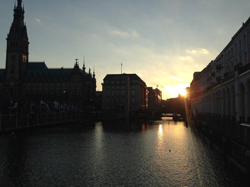 Sonnenuntergang Alster Hannover