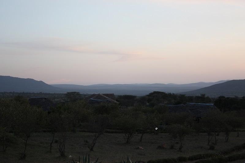 Manyatta Camp, Kenia, Massai Mara, Sonnenuntergang