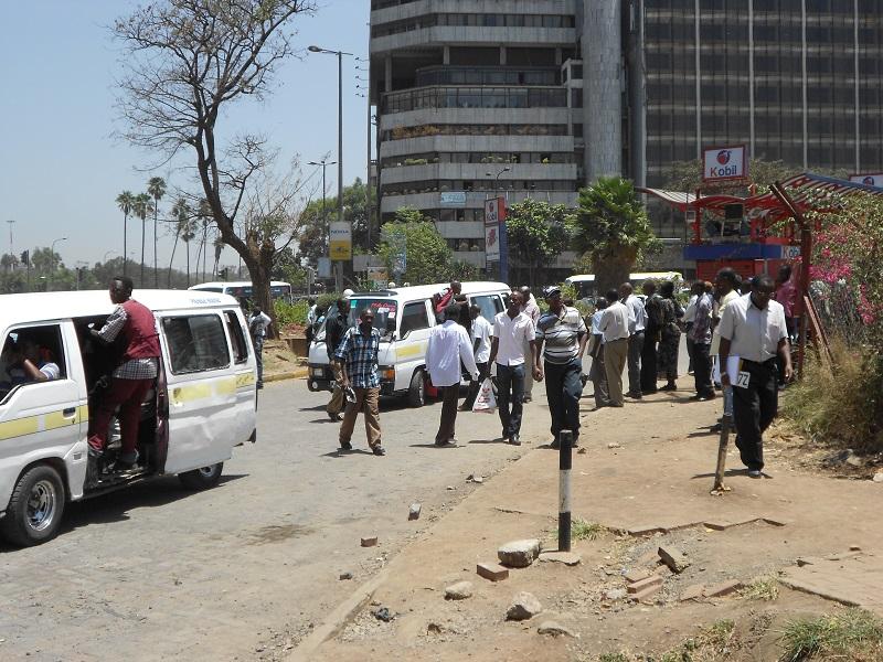 Straßenszene Nairobi, Kenia