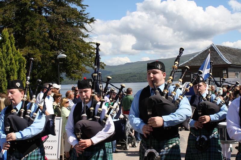 Dudelsackspieler bei Highlandgames in Schottland