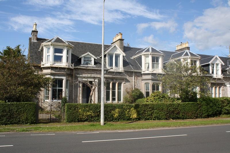 Viktorianische Häuser in Helensburgh in Schottland