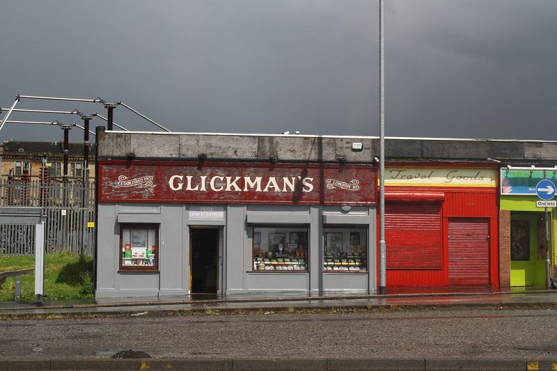 Heruntergekommene Häuser in Glasgow