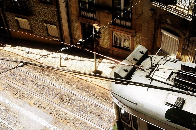 Straßenszene Lissabon