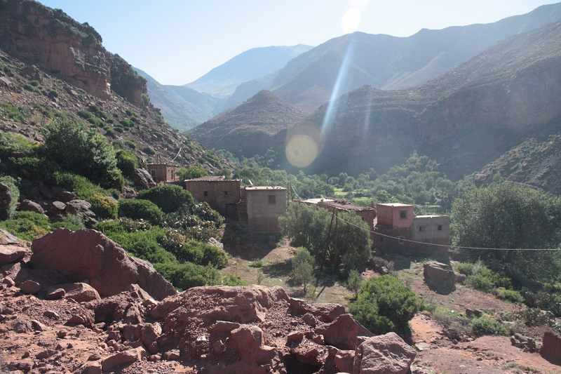 Berberdorf im Hohen Atlas von Marokko
