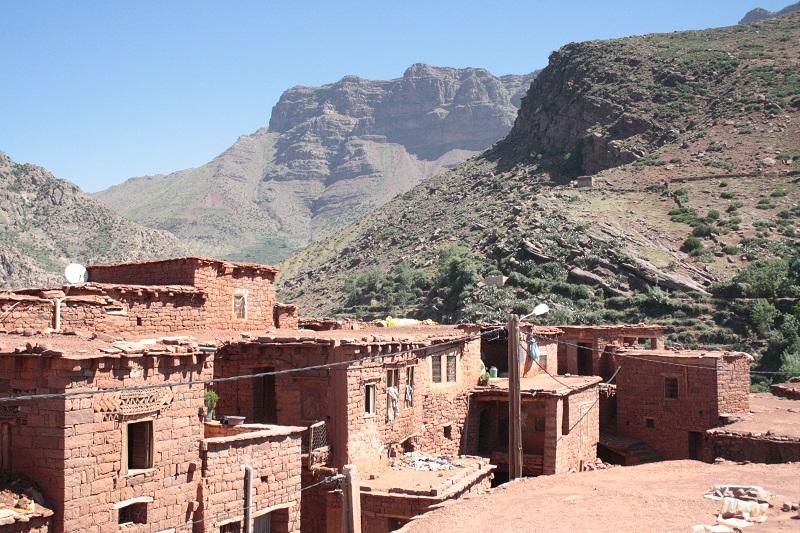 Berber Dorf, Hoher Atlas, Marokko