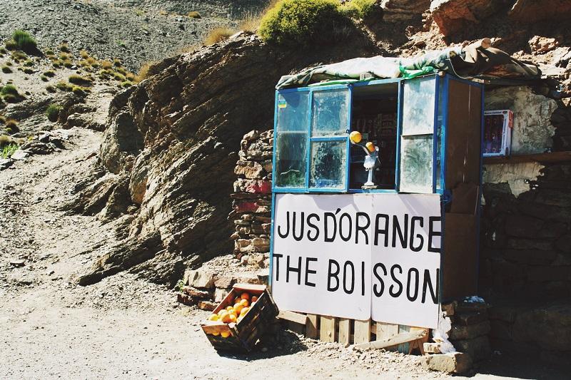 frischer Orangensaft, Hoher Atlas, Marokko, Zagora