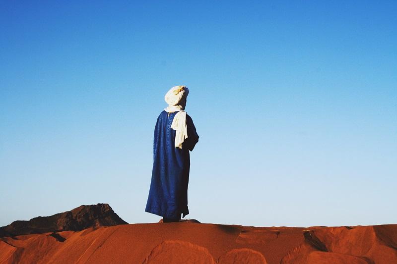 Touareg Sonnenaufgang Sahara, Zagora