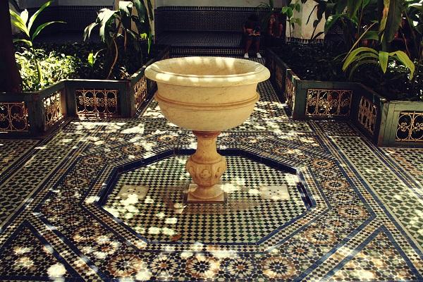 Springbrunnen Riad, Marokko