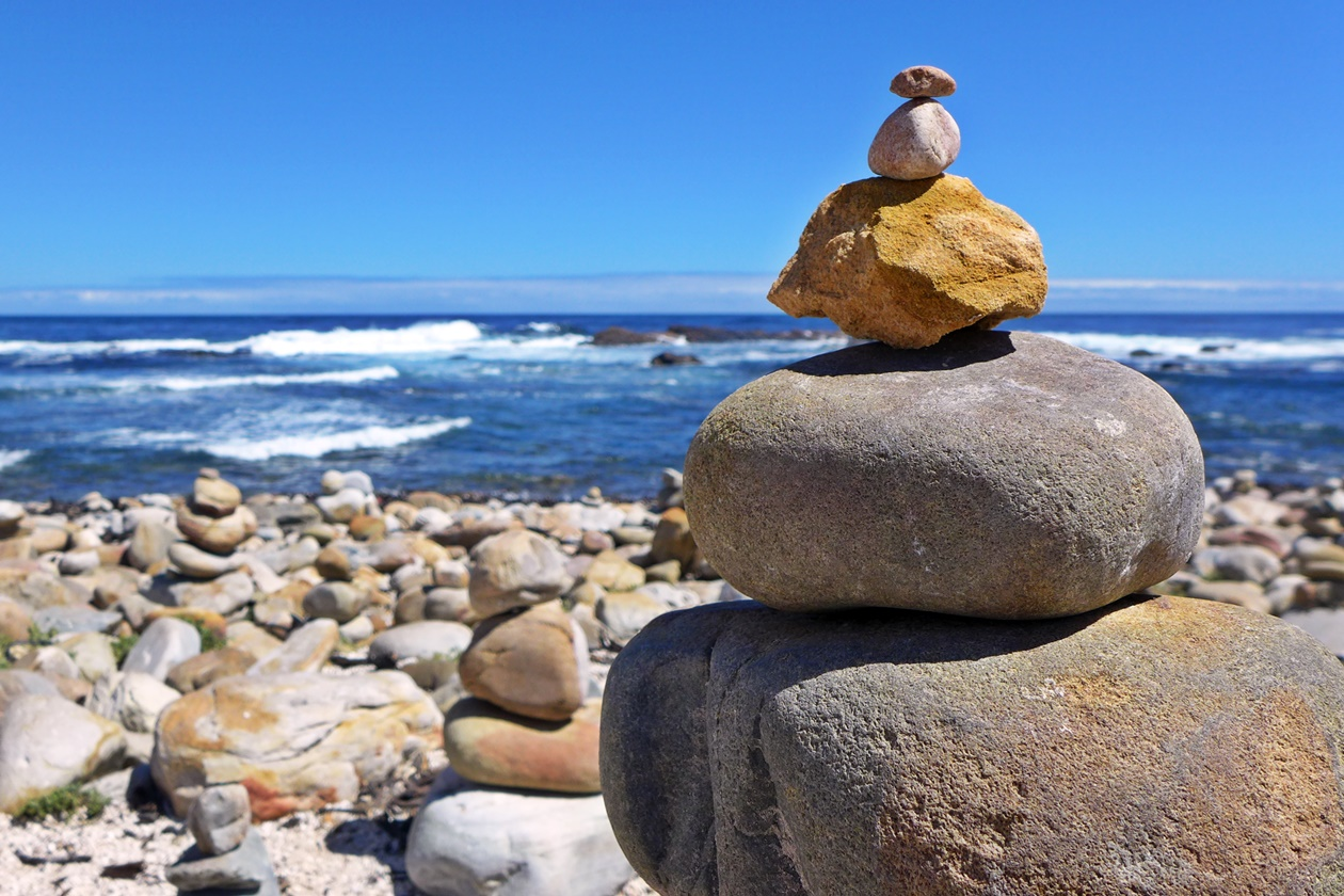 Steinmännchen am Kap der Guten Hoffnung