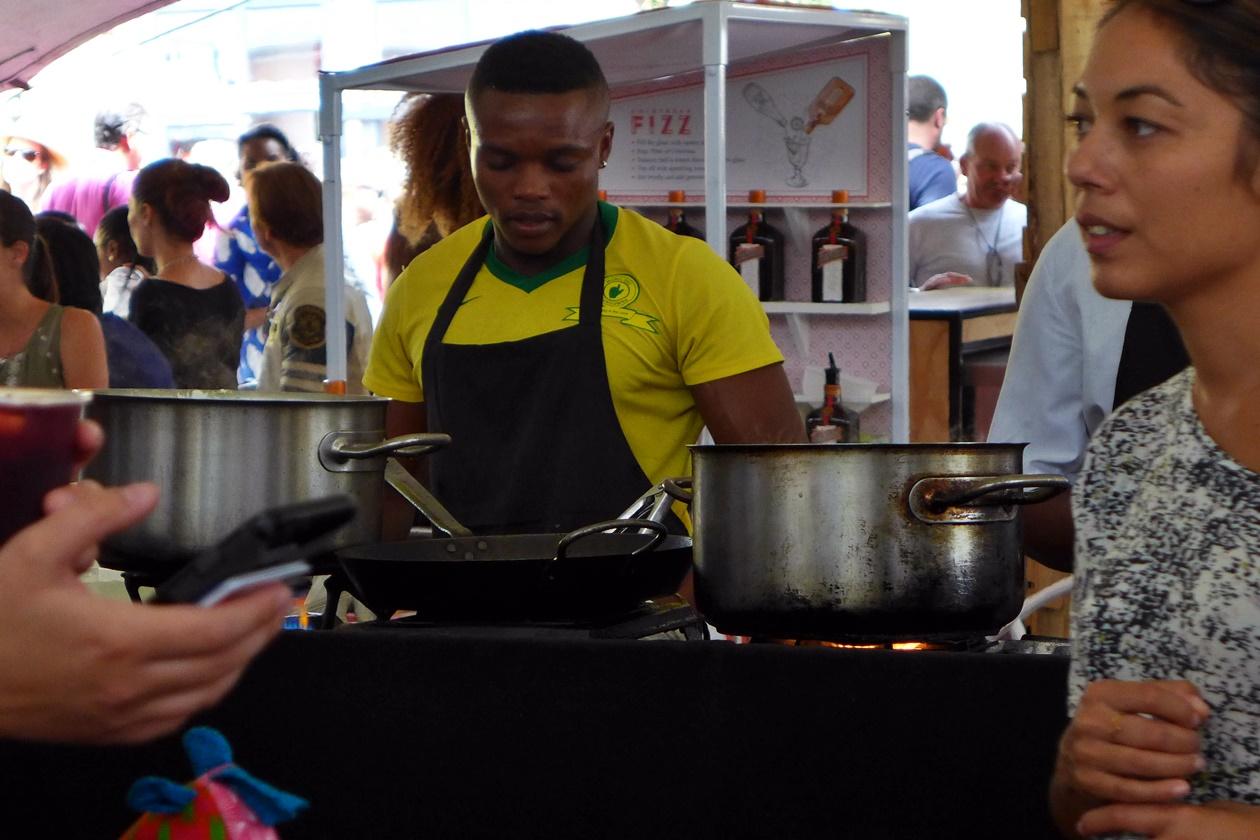 Foodmarket in Kapstadts Stadteil Woodstock