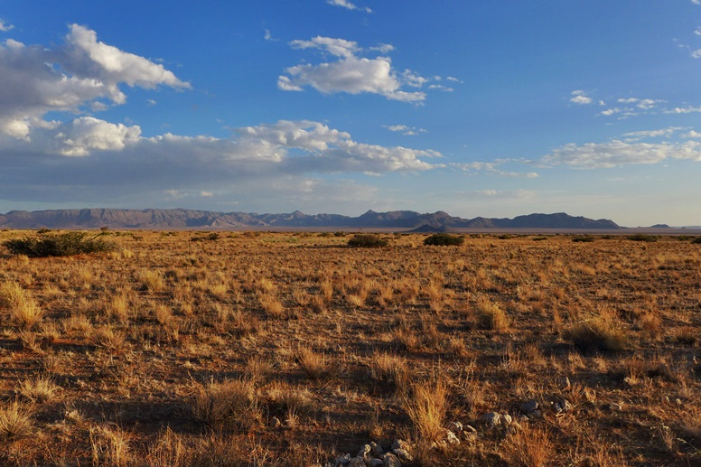 Sonnenuntergang in Solitair Namibia
