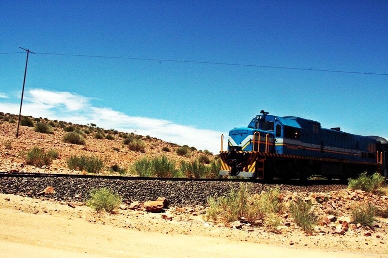 Zug auf dem Weg zum Fishriver Canyon in Namibia