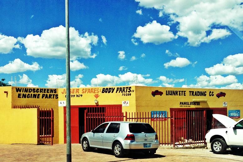 Straßenszene in Windhoek