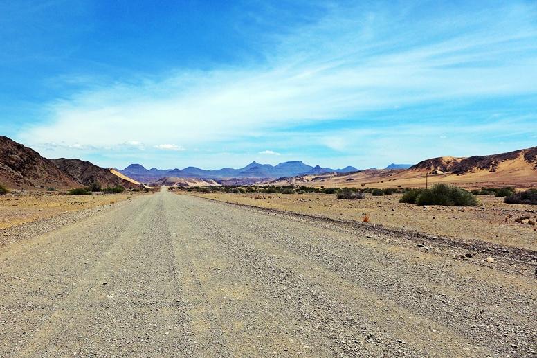 Sanddünen auf dem Weg zum Grootberg Pass