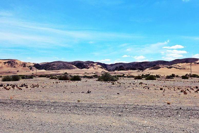 Straße zum Grootberg Pass in Namibia