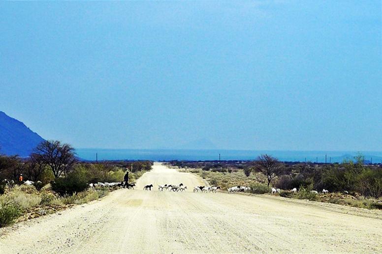 Straßenszene in Namibia
