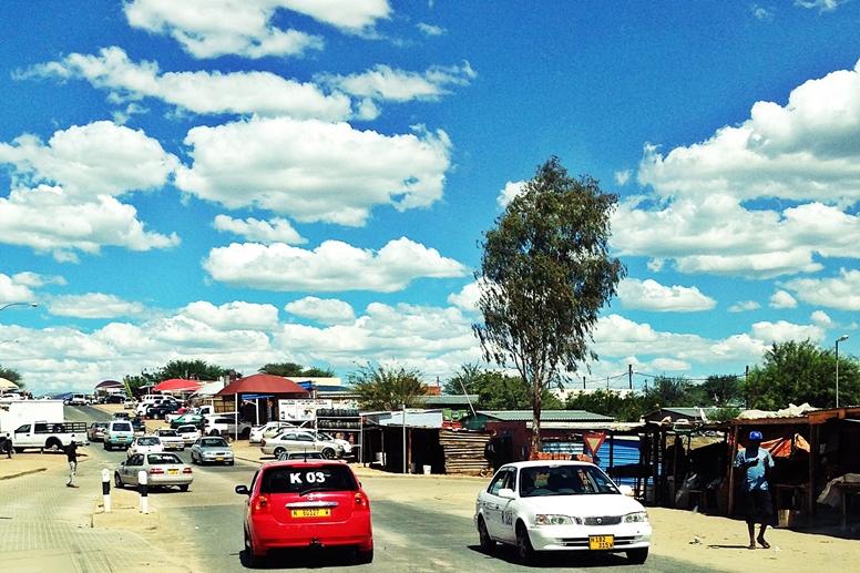 Straßenszene in Namibias Hauptstadt Windhoek