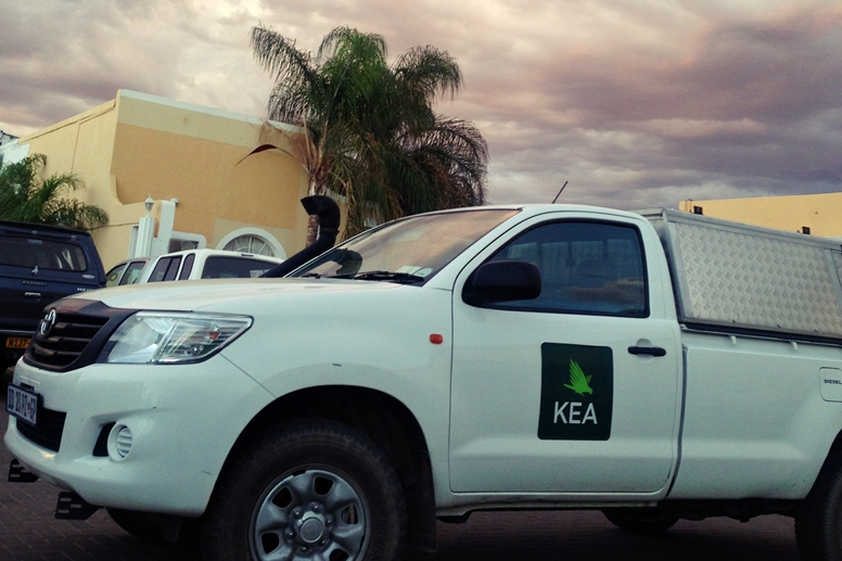 Kea Mietwagen in unserer Lodge in Keetmanshoop in Namibia