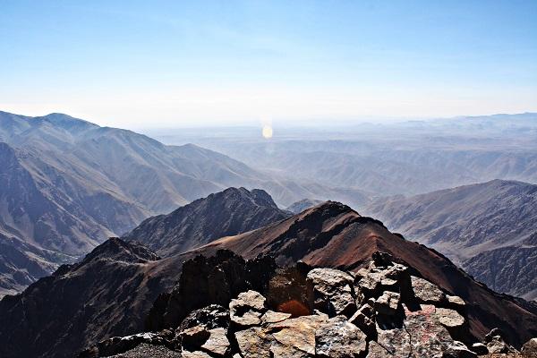 Blick auf die Berge des Atlas Gebirge