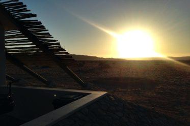 Lodge in Namibia bei Sonnenuntergang