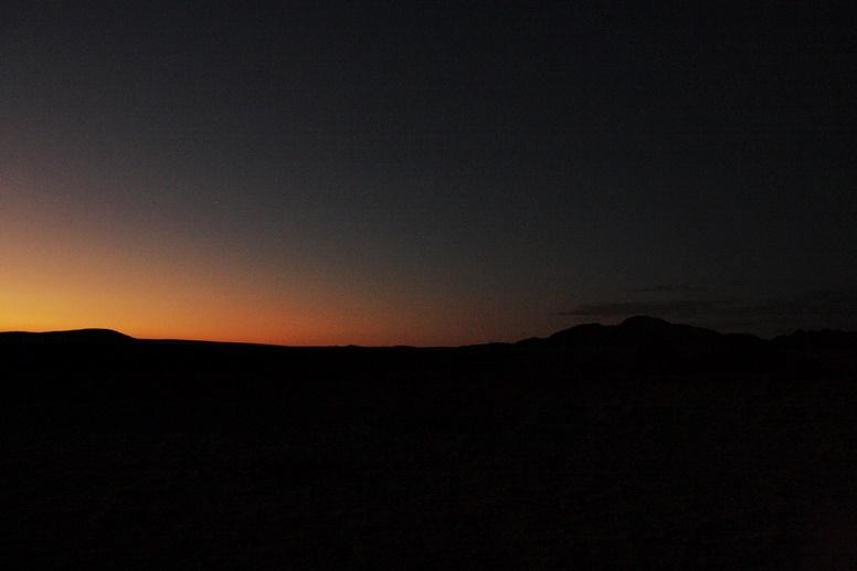 Sonnenaufgang bei Sesriem in Namibia