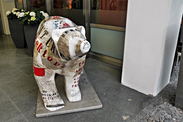 Berliner Bär in Berlin aus Pappmaché