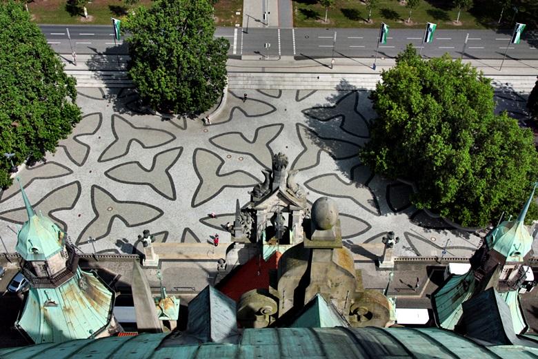 Hannover von oben, Rathausvorplatz