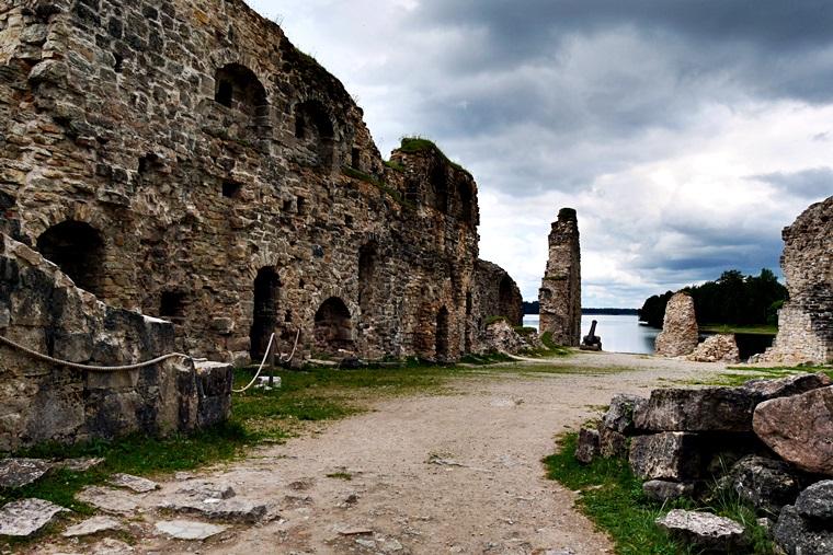 Burgruine von Koknese in Lettland