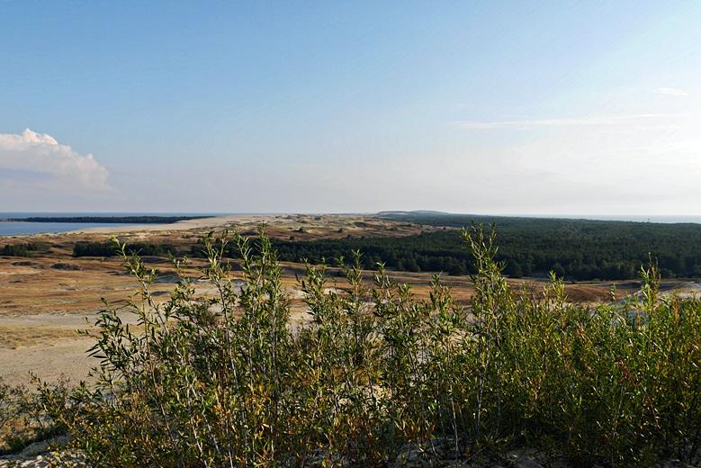 Blick über die großen Dünen bei Nida bis nach Russland eine der Sehenswürdigkeit in Litauen