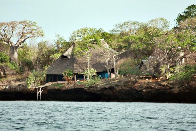 Kleine Insel vor der Küste von Diani Beach, Kenia