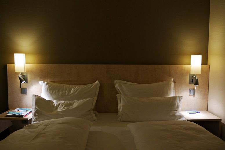 Gemütliches Bett im Park Inn by Radisson Mainz