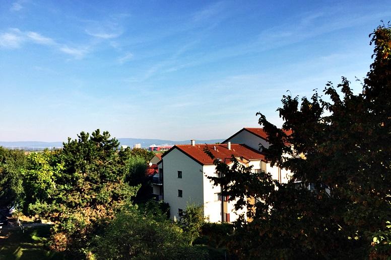 Aussicht aus einem der Zimmer des Park Inn by Radisson Mainz