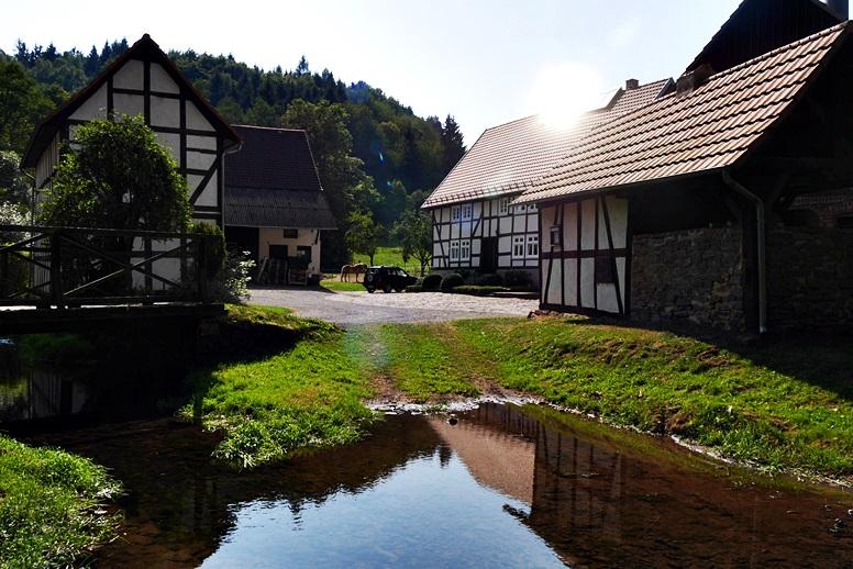 Weitere Mühle im Lengeltal auf der Wegschleife des Hugenotten- und Waldenserpfades bei Louisendorf in Nordhessen