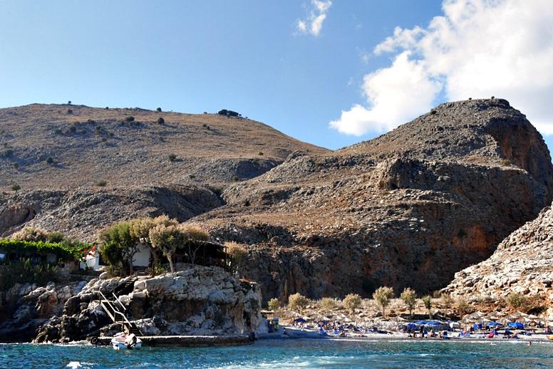 Wandern auf Kreta: Bucht am Marmara Strand