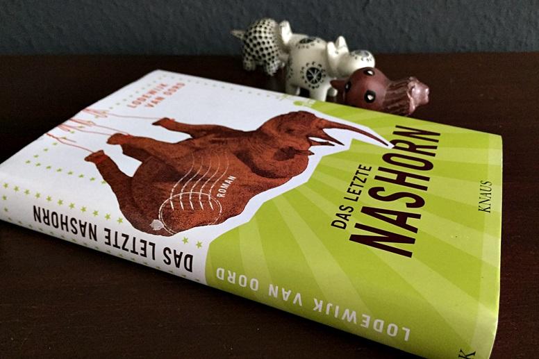 """Umschlag des Buches """"Das letzte Nashorn"""" von Lodewijk van Oord"""
