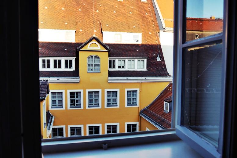 Aussicht aus dem Fregehaus in Leipzig