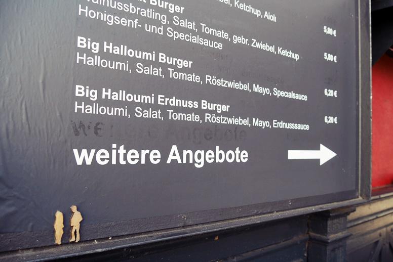 Details beim Burgermeister auf der KarLi in Leipzig